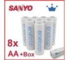 8er Box Eneloop AA Akkus incl.  Schutzhüllen nur 14,99€ inkl. Versand