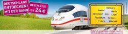 Für 19€/24€ mit der Bahn durch Deutschland (Restplätze)