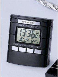 Funkwecker mit LCD-Anzeige, Innentemperatur, Kalender, Wochentag- und 24-Std.-Anzeige, Weckwiederholung (snooze), Inkl. Batterie für 2 Euro