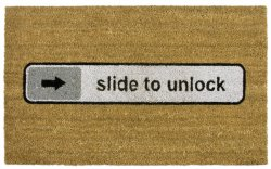 "Fußmatte ""slide to unlock"""