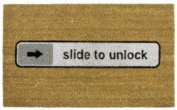 """Fußmatte """"slide to unlock"""""""