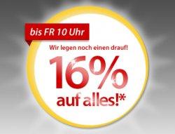 MeinPaket: Bis Freitag 10 Uhr 16% auf alles (außer Münzen und Edelmetalle)