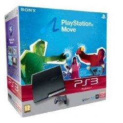PlayStation 3 320 GB mit Move Starter Pack [PEGI] + Gran Turismo 5 für 289 €