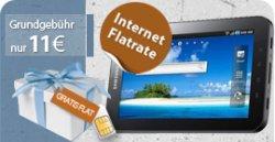 Samsung Galaxy Tab mit Internet-Flatrate für 29€