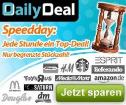 Speeddeal-Day bei Dailydeal: Morgen ab 11Uhr Gutscheine für Esprit, Amazon