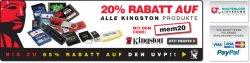 20% auf alle Kingston-Produkte bei zoombits.de