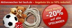 20% Rabatt auf Spielwaren bei buch.de
