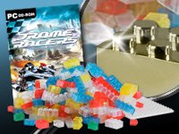 "300-tlg. Playtastic-Bausteine-Set mit LEGO-Software ""Drome Racers"" kostenlos"