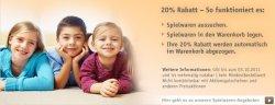 5€ Gutschein + 20% Extra-Rabatt auf Spielwaren wie LEGO, Playmobil, Brettspiele.. usw!