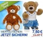 7,50 statt 15 Euro für kuschelige Teddys mit Knopfaugen und andere süße Plüschtiere