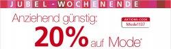 Bei Neckermann gibt 20 Prozent Rabatt auf Mode mit Gutschein CODE MODE1130