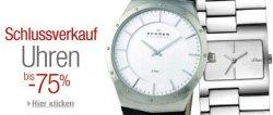 bis zu 75% Rabatt auf Uhren bei amazon