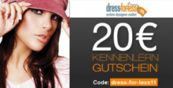 dress-for-less: 20€ Gutschein mit MBW: 60€