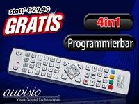 GRATIS 4in1-Universal-Fernbedienung, per USB programmierbar (nur Versand!!!)
