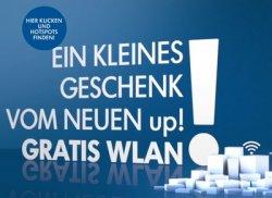 Gratis-WLAN zur Markteinführung des VW up! in 8 Städten für eine Stunde über Telekom-HotSpots