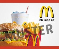 Gutschein von Mc Donalds für 5 Euro-Wert des Gutscheins 10 Euro!!!