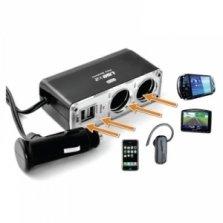 Kfz-Verteiler Ladegerät 2 x 12/24V &  2 x USB 7,51€ incl. Versand