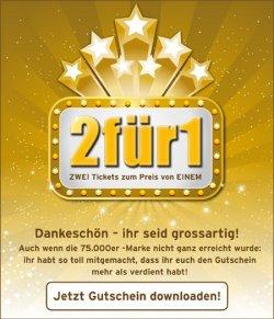 Kinogutschein: UCI 2für1 Coupon kostenlos herunterladen