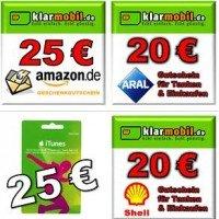 Klarmobil: SIM-Karte mit 15 Euro Startguthaben, dazu eine von vielen Prämien für 4,95 sichern