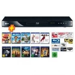 LG BD-550 Blu-Ray Player + 10-Blu-ray Filme für 139 € bei Amazon