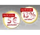 MeinPaket Oberhammer: 13%auf alles (MBW 40,00); 5 Euro geschenkt bei Einkäufen zwischen 10 und 40 Euro
