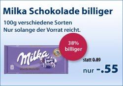 Milka 100g Schokoladentafeln nur 55 Cent online bei Schlecker