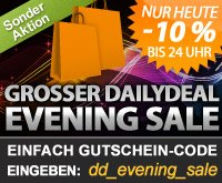 Nur heute bis 24 Uhr: DailyDeal Eveningsale, 15% auf ALLES