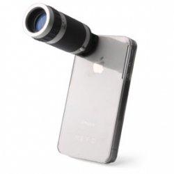 Objektiv mit 6X Zoom+ Halterung für iPhone 4 für 8,25€ incl. Versand