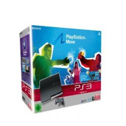 PlayStation 3 Slim 320GB + Move Starter Pack + 2. Move Motion Controller + Move Sports Champions für 299€ bei AMAZON