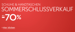Schuhe und Handtaschen Sommerschlussverkauf bei amazon.de – bis 70% Rabatt