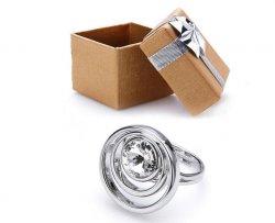 Silberring (versilbert) mit weißem Swarovski-Strass 4,95€ (34,95€ UVP)