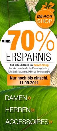 Summer Sale bei dress-for-Less: mind 70% Rabatt im BEACHSHOP