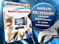 topaktuelle deutsche PC-Vollversion  WinSysClean X1 2011 für 0,00€ + Versand