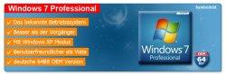 Windows 7 Professional 32Bit für 51,50€ oder 64Bit 61,90€ versandkostenfrei