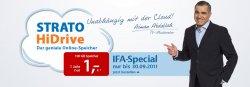 Zur IFA 2011 gibt es von Strato die HiDrive Online Festplatte mit 100GB Speicherplatz für 1 Euro ein ganzes Jahr