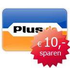 10 Euro Gutschein bei plus im Rahmen der Jubileumsaktion