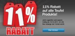Aktion: 11% auf Alles bei Teufel Lautsprecher + Gutschein