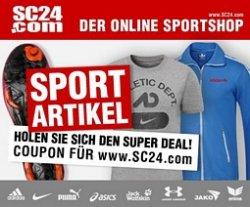 11€ Gutschein ohne MBW für sc24.com (Sportbekleidung)