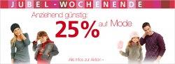 25% Rabatt auf alles aus dem Bereich Mode bei neckermann