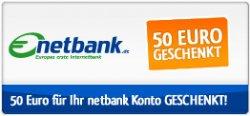 50€ Startguthaben bei Kontoeröffnung der netbank sichern (kostenloses verzinstes Girokonto zzgl. MasterCard)