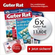 """6 Monate das Spar-Magazin """"Guter Rat"""" für effektiv 3,80 €"""
