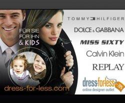 Bei Dailydeal gibt es einen Gutschein für Designermode bei dress-for-less.com,für 19,90 Euro-Wert des Gutscheins ist 50,00 Euro!!!