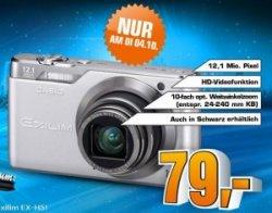 Casio Exilim EX-H5 12 Megapixel Digitalkamera für nur 79 Euro bei Saturn
