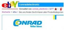 Conrad: Wieder neue B-Ware Artikel im Ebay-Shop