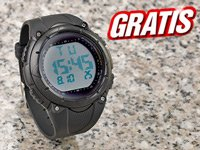 Digitale Sportarmbanduhr mit beleuchtbarem LCD Bildschirm-Gratis!!!