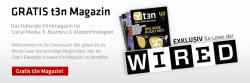 Kostenlose Ausgabe der Zeitschrift t3n ohne Abo etc. anfordern.