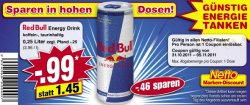 [Offline-Deal] Red Bull Energy Drink Gutschein 0,99 € statt 1,45 € bei Netto