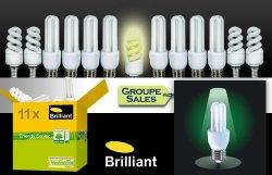 Set Brilliant Energiesparlampen-Set für 13€ statt 33€, ca 60% Ersparnis