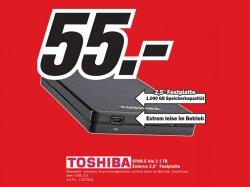 """Toschiba STOR.E Alu 2 Externe 2,5"""" Festplatte 1 TB nur 55 € und Lacie 2TB für 59€"""