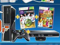 XBOX 360 mit drei Spielen und Kinect Sensor für 289 Euro bei Saturn